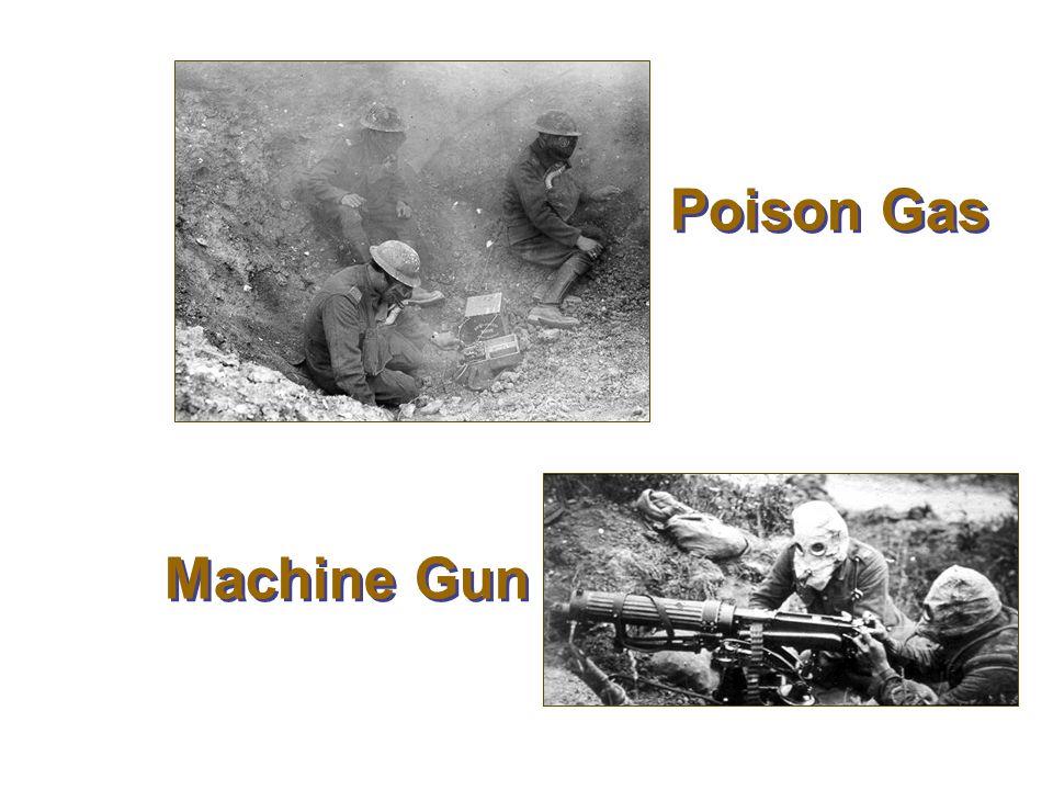 Poison Gas Machine Gun Poison Gas and Machine Guns