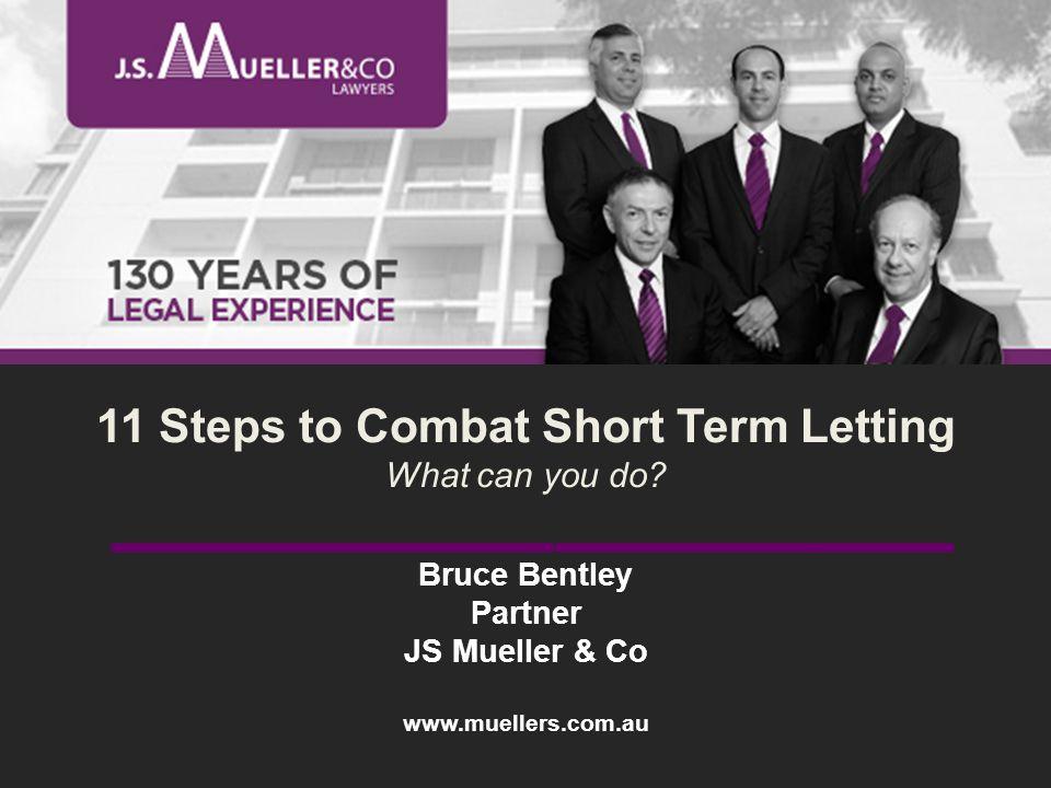 Bruce Bentley Partner JS Mueller & Co www.muellers.com.au