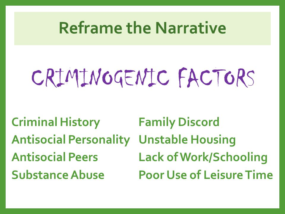 Reframe the Narrative Child care Elder care Child support Pooled resources Social isolation