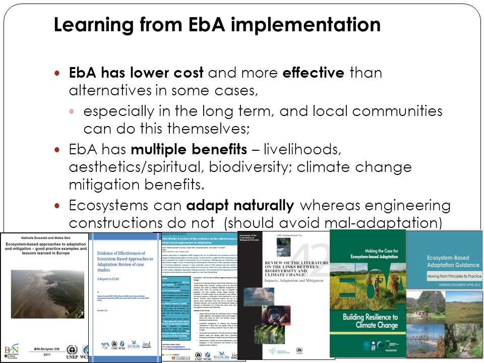 UNEP's EbA Flagship: Decision Support Framework - An Planning Tool A: Setting the Adaptive Context What does your system look like.