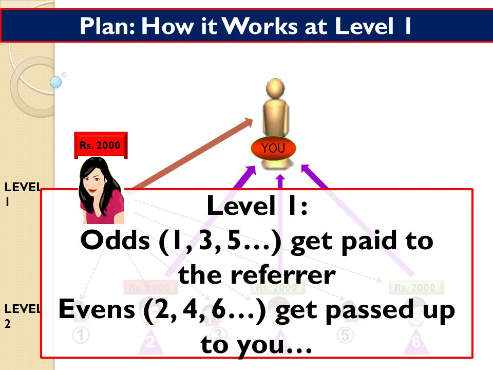 Plan: How it Works at Level 0 2000 YOU 1 2 3 456