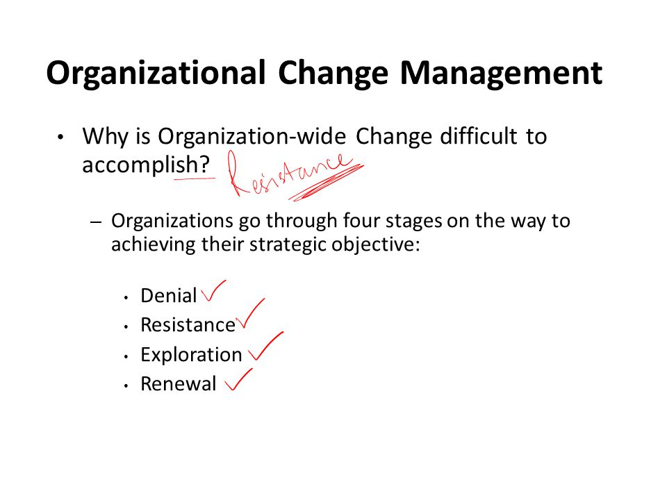 Organizational Change Management Why is Organization-wide Change difficult to accomplish.