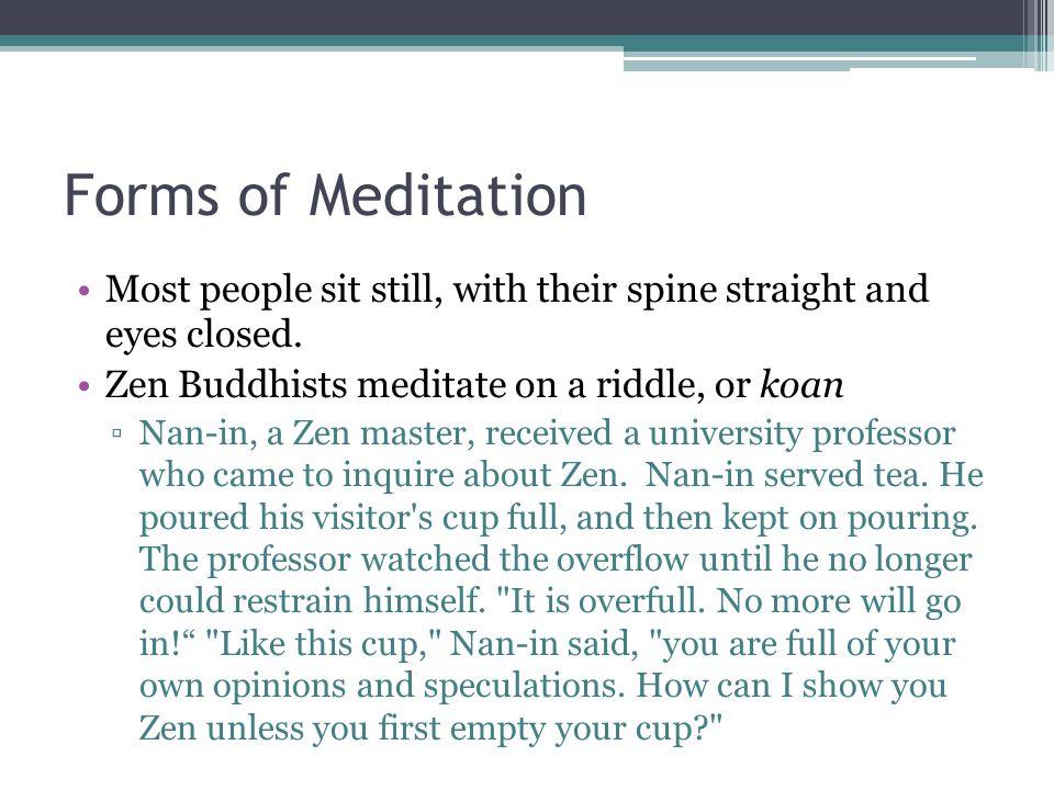 Benefits of Meditation Meditation isn't just a Buddhist practice.