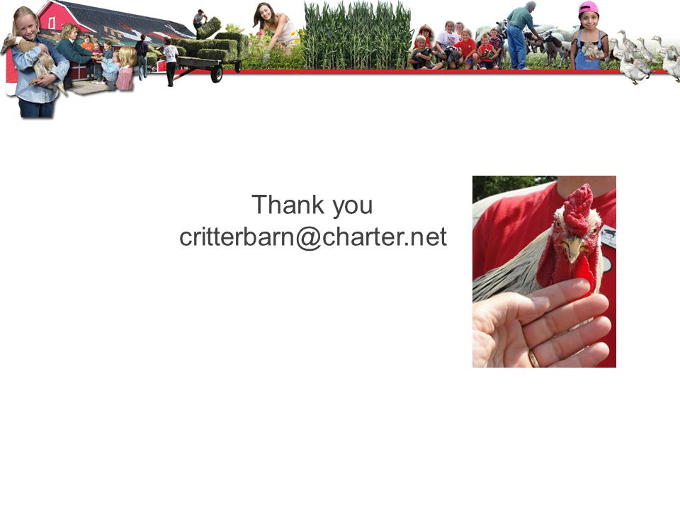 Thank you critterbarn@charter.net