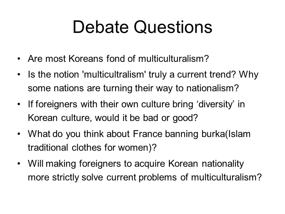Overall, about Korea becoming a multicultural society…