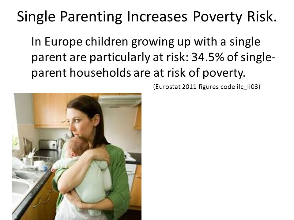 Single Parenting Increases Poverty Risk.