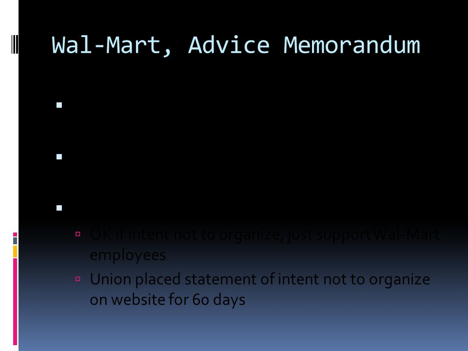 Wal-Mart, Advice Memorandum  NLRB Advice Memorandum, No.