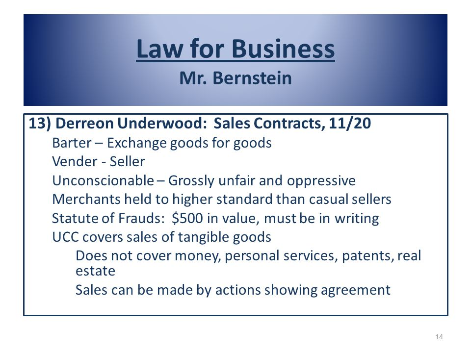 Law for Business Mr.