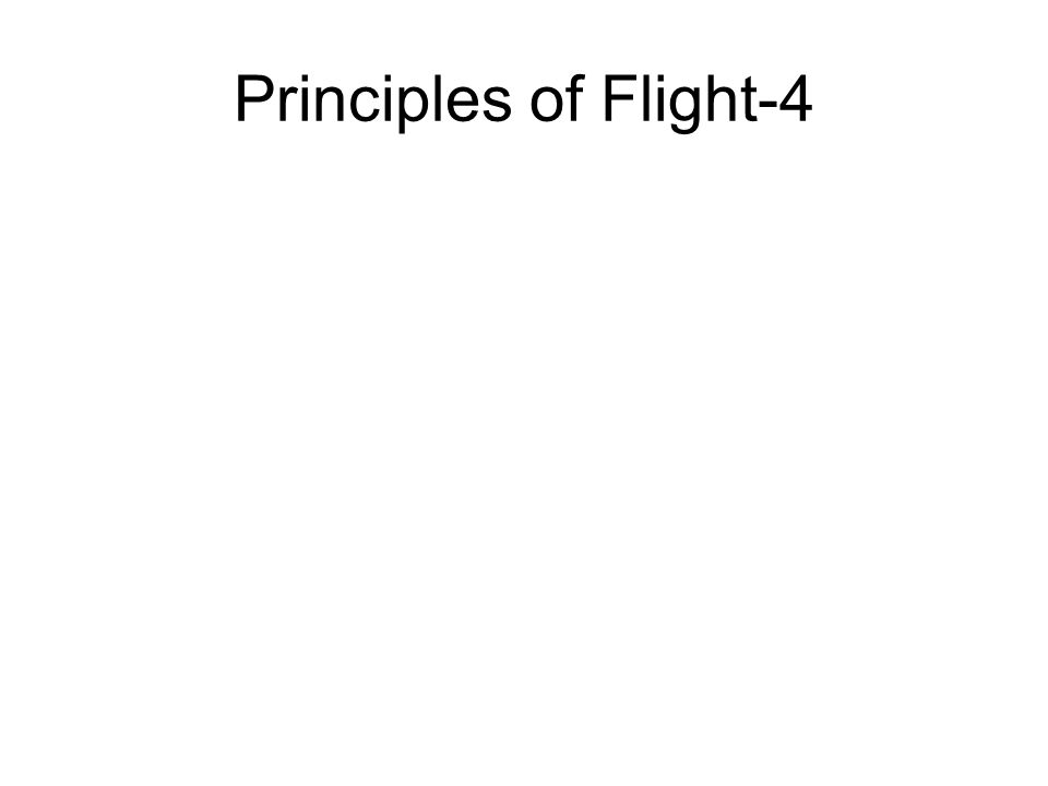 Principles of Flight-4
