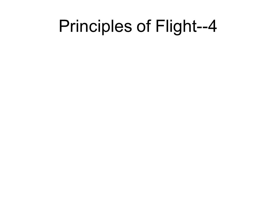 Principles of Flight--4