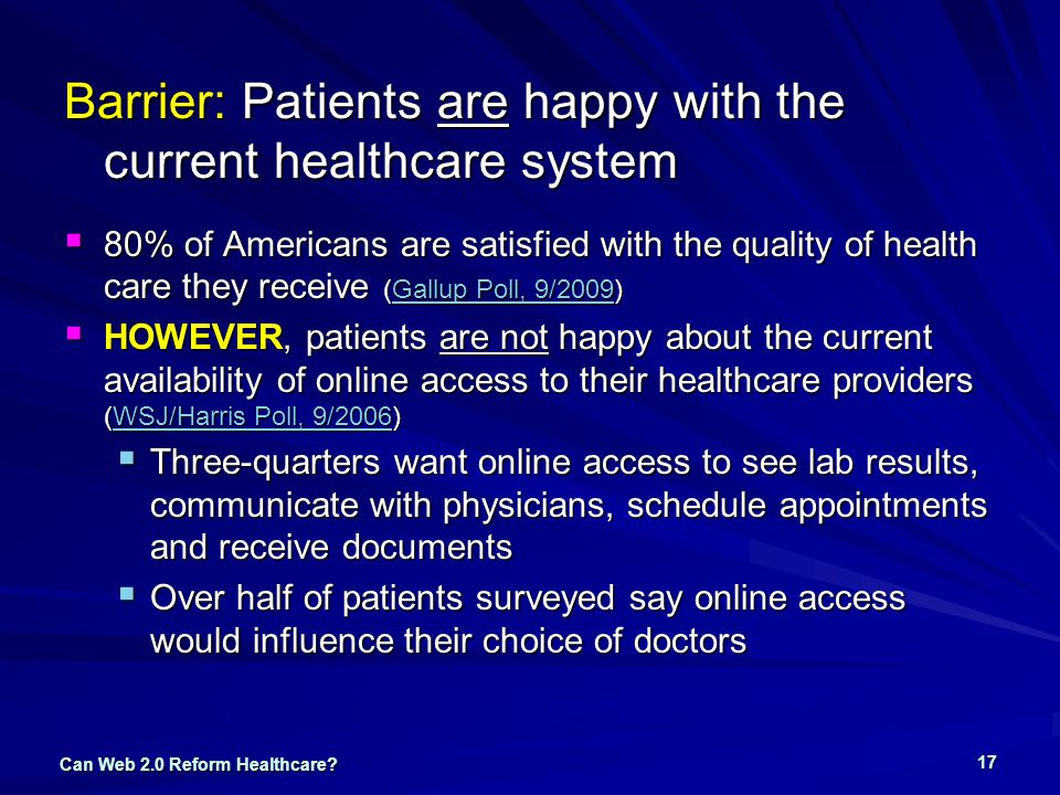 Can Web 2.0 Reform Healthcare.