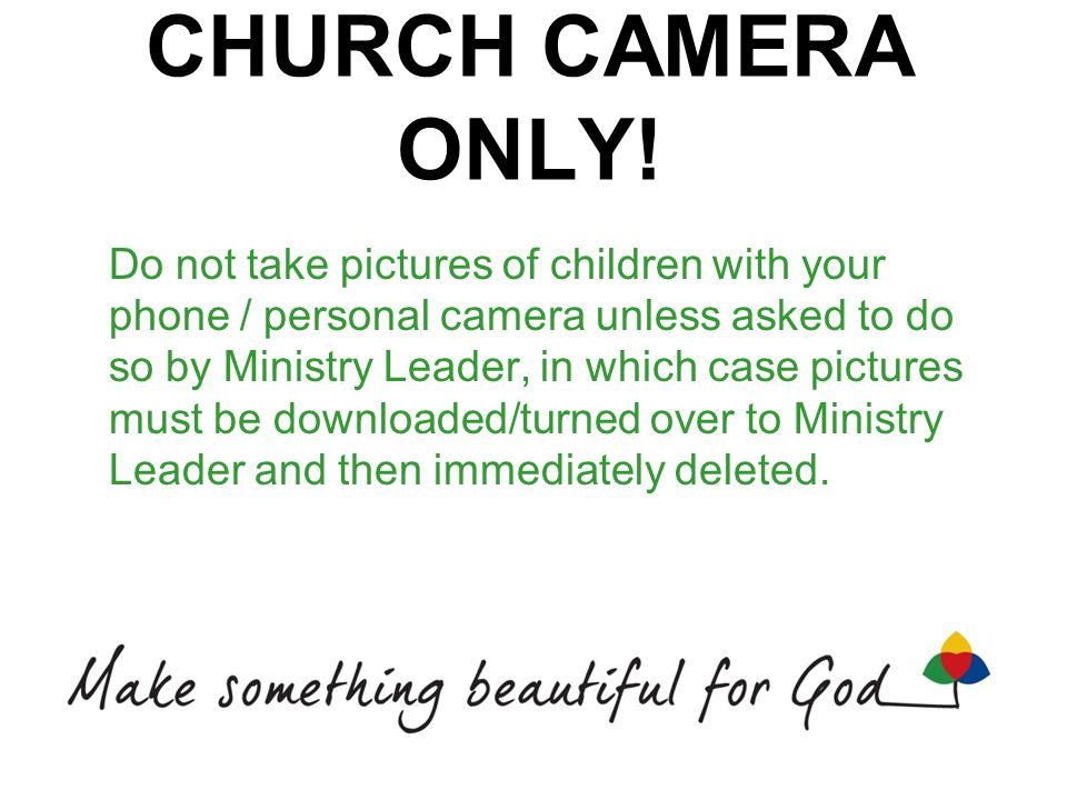 CHURCH CAMERA ONLY.