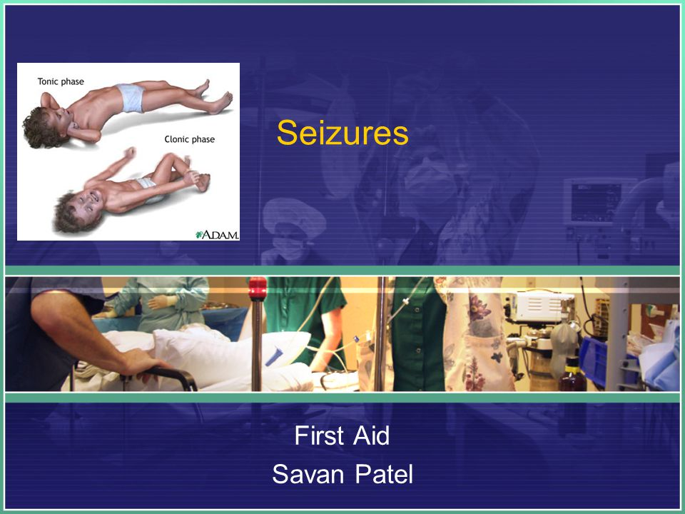 A seizure can be a symptom of another health problem, such as: A rapidly increasing fever (fever seizure).