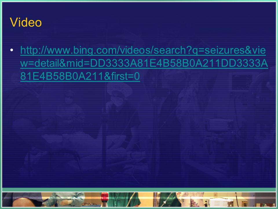 Video http://www.bing.com/videos/search q=seizures&vie w=detail&mid=DD3333A81E4B58B0A211DD3333A 81E4B58B0A211&first=0http://www.bing.com/videos/search q=seizures&vie w=detail&mid=DD3333A81E4B58B0A211DD3333A 81E4B58B0A211&first=0