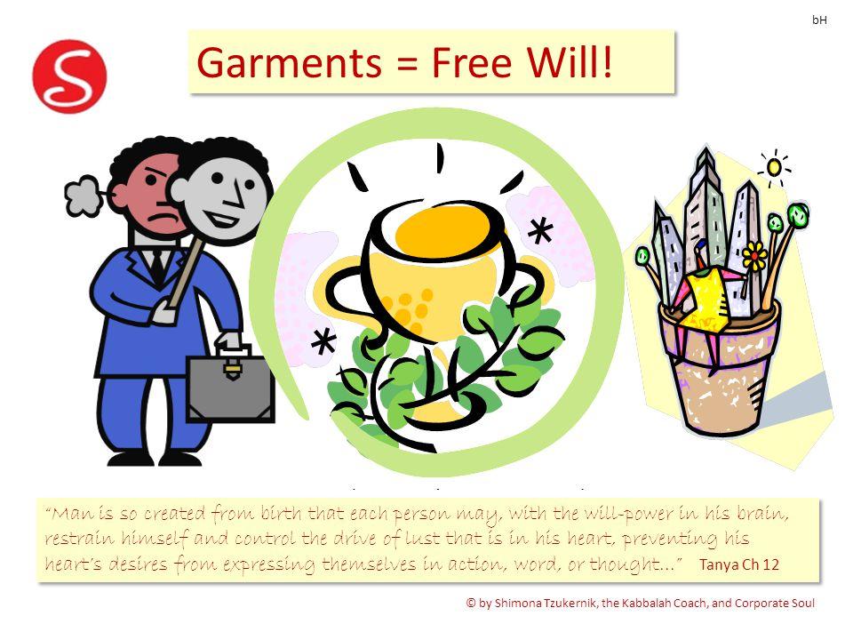 The Garment Advantage Garments = Free Will.