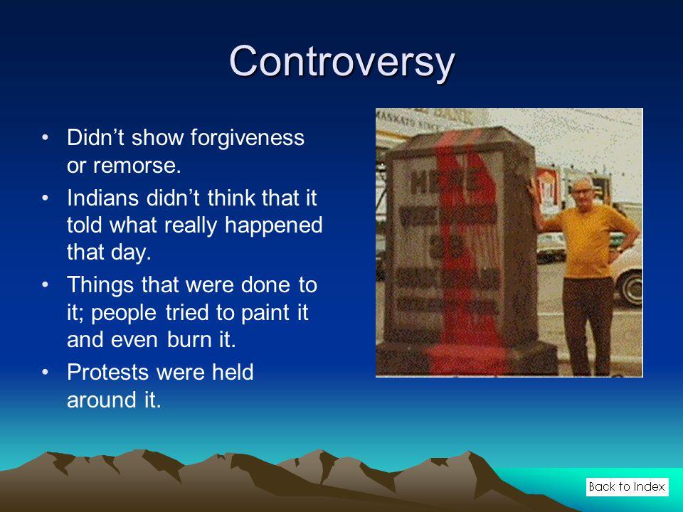 Controversy Didn't show forgiveness or remorse.