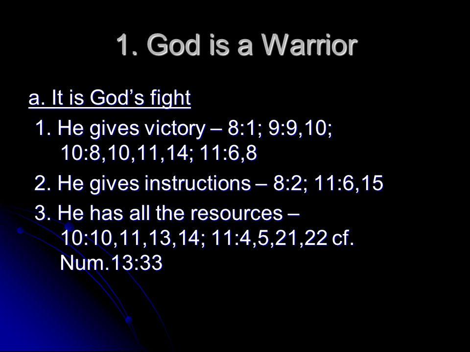 God is a Warrior b.