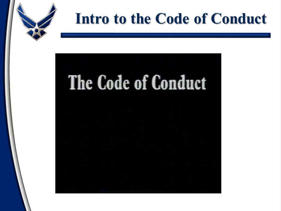 Intro to the Code of Conduct