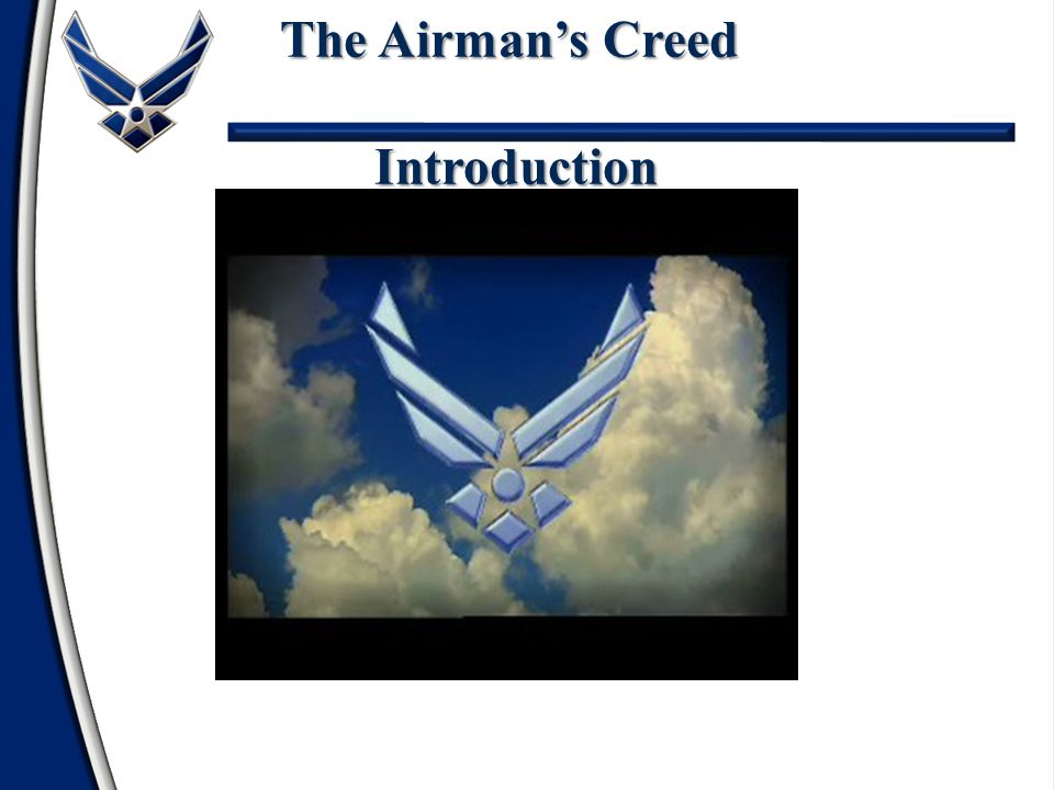 The Airman's Creed Introduction
