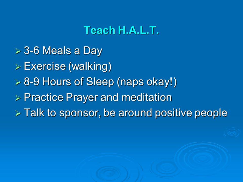 Teach H.A.L.T.
