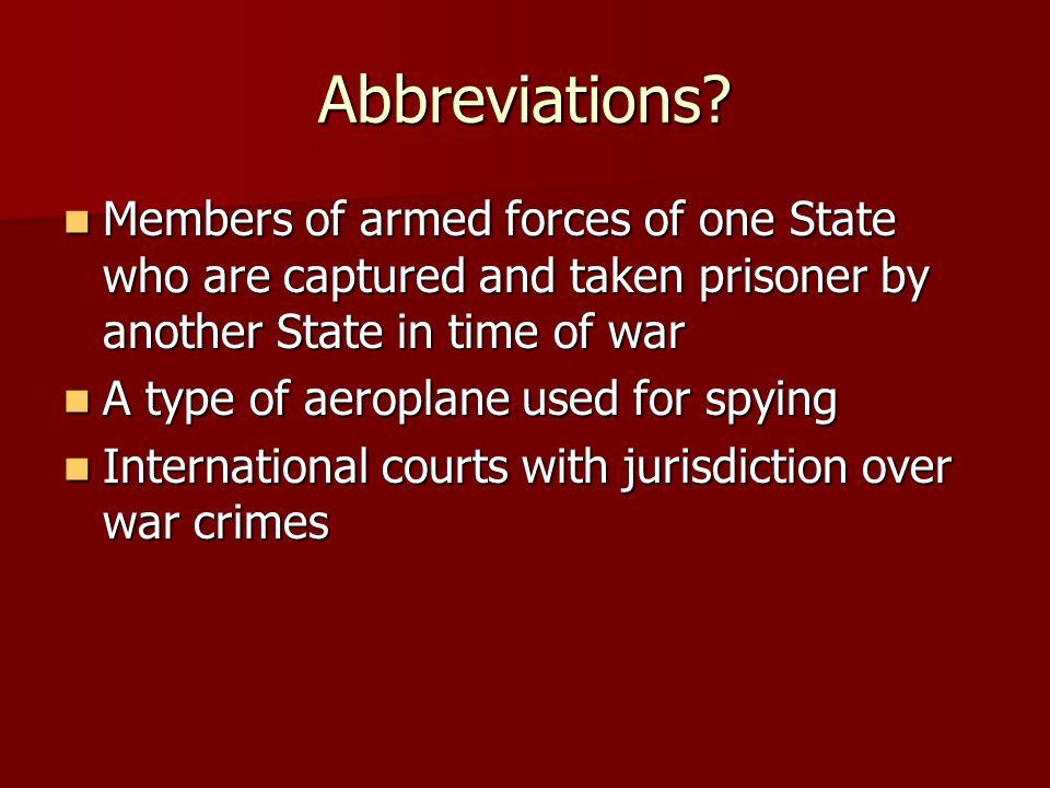 Abbreviations.