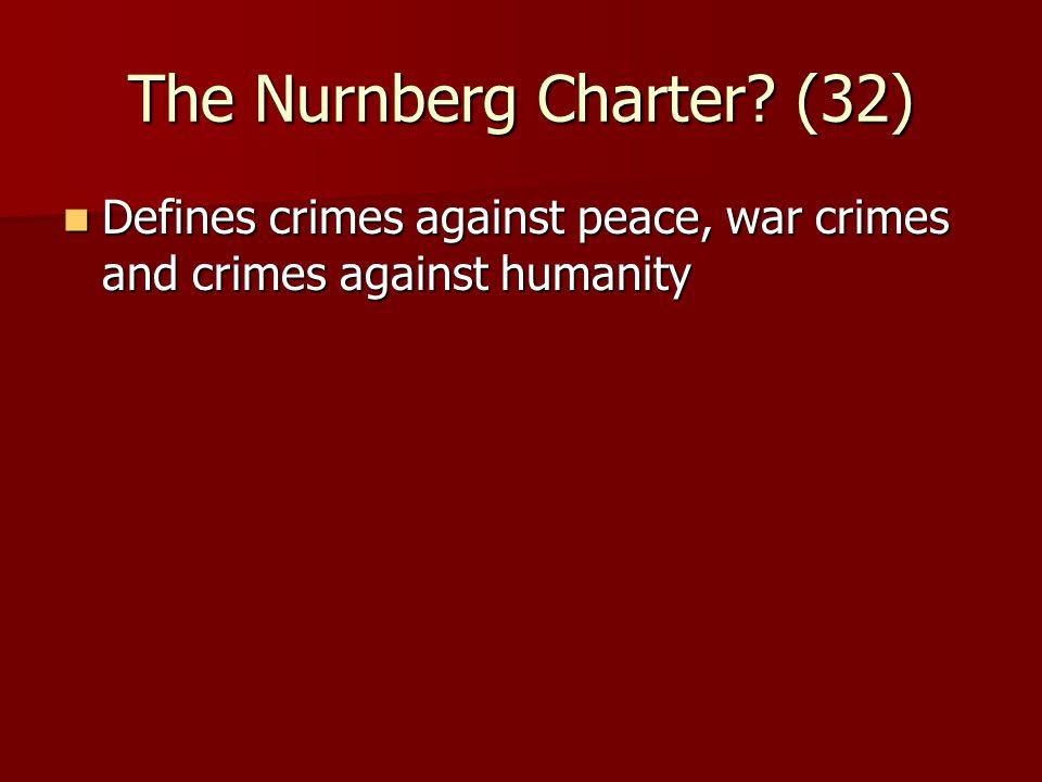 The Nurnberg Charter.