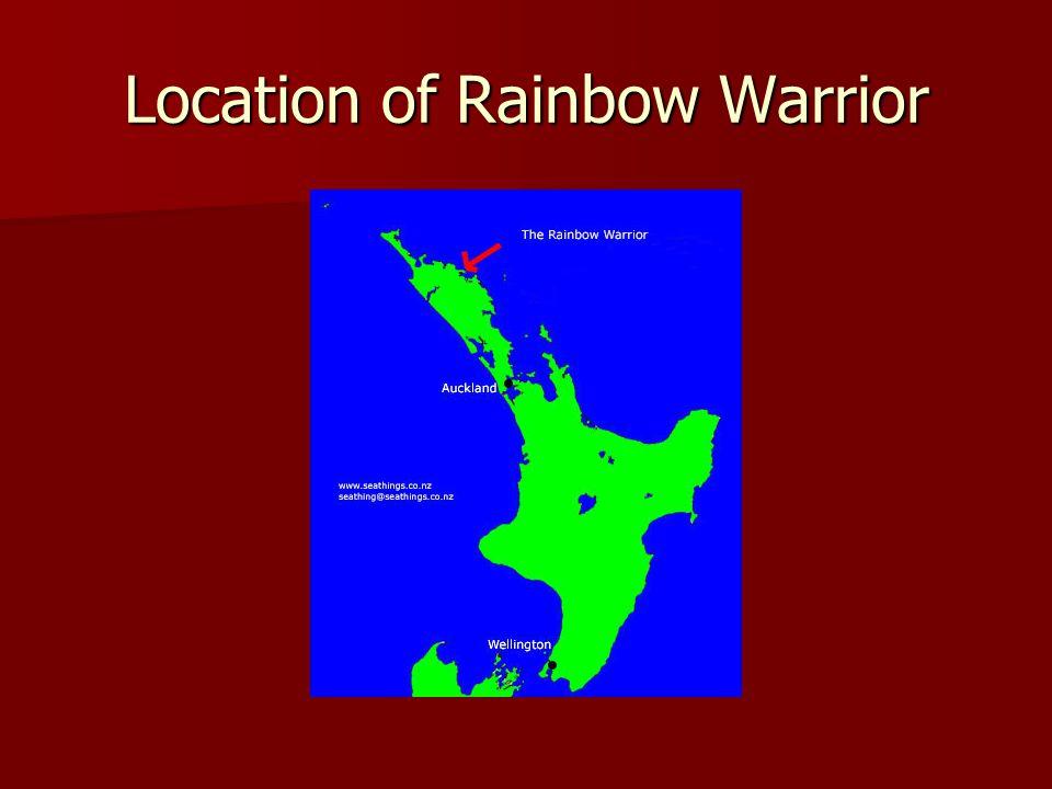 Location of Rainbow Warrior