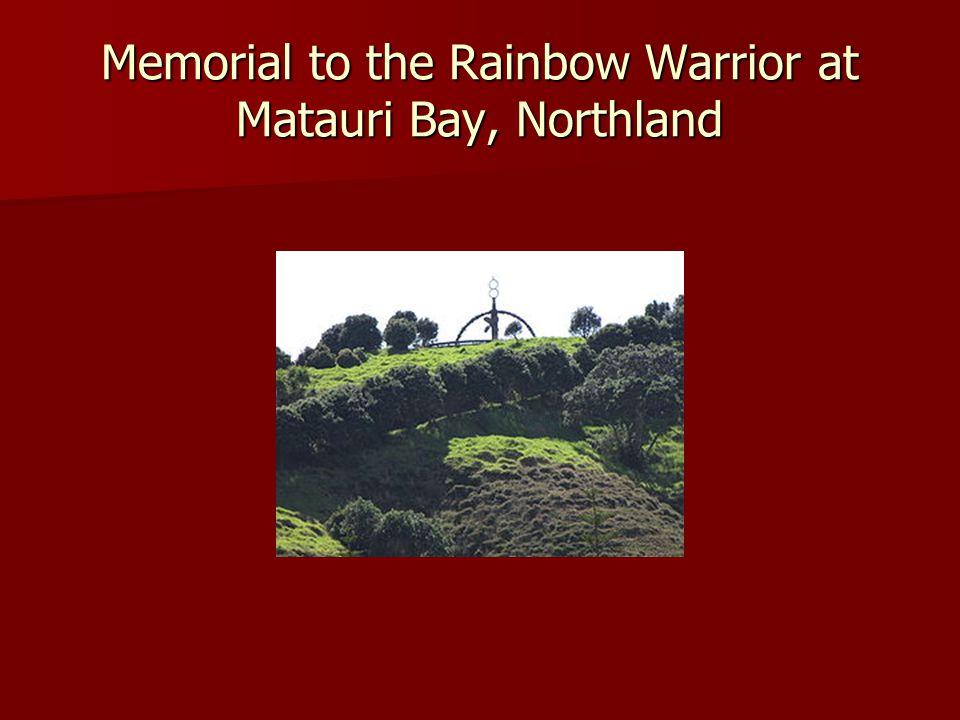 Memorial to the Rainbow Warrior at Matauri Bay, Northland