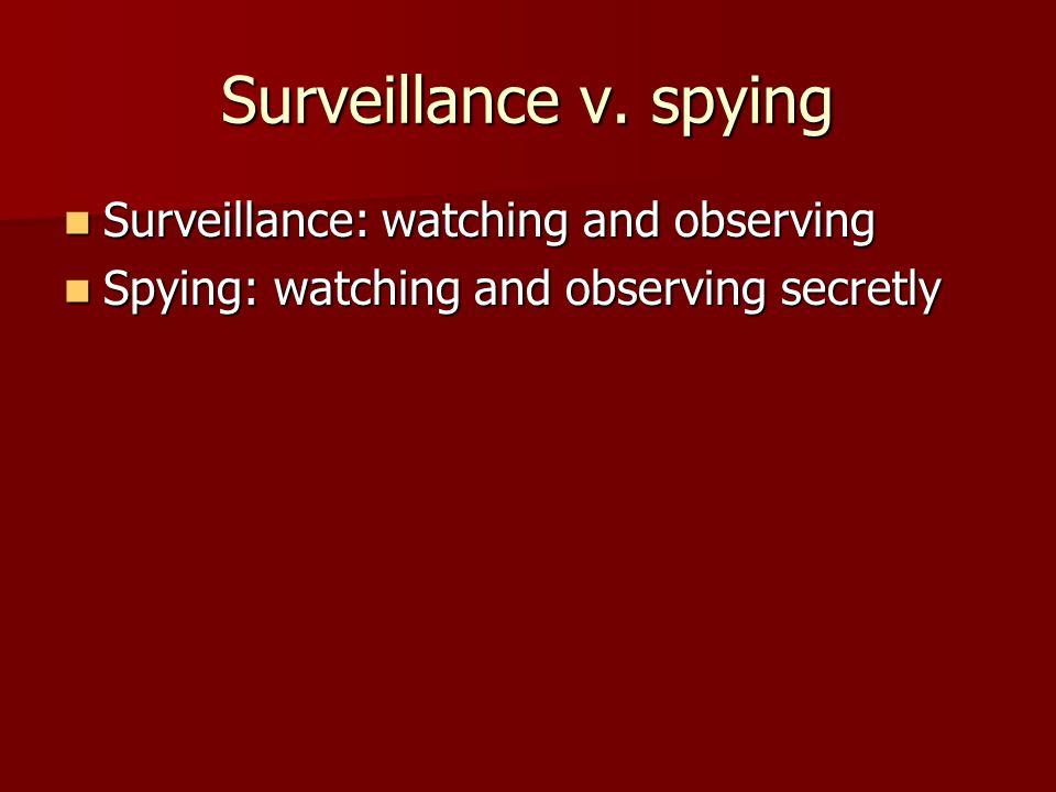 Surveillance v.