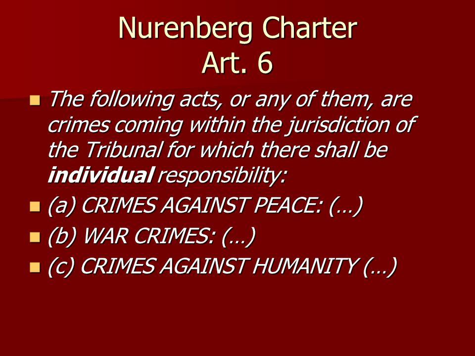 Nurenberg Charter Art.
