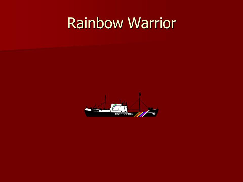 Rainbow Warrior sunk