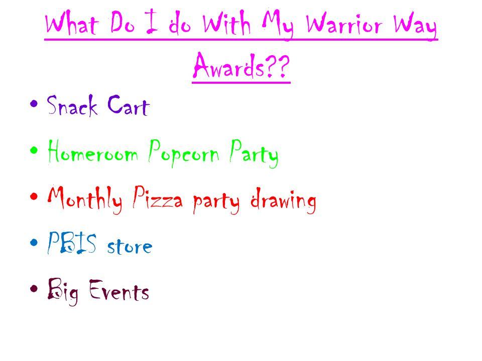 What Do I do With My Warrior Way Awards .