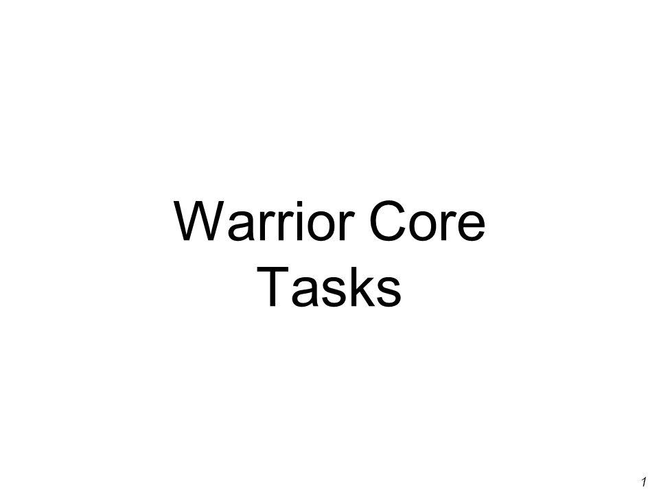 1 Warrior Core Tasks
