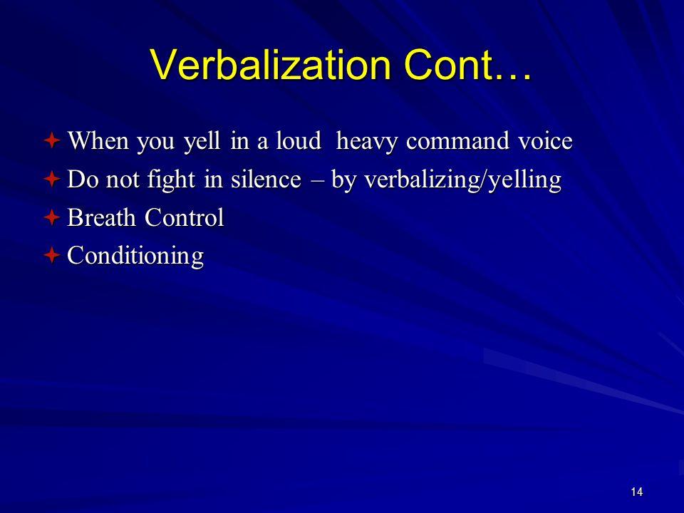 13 Verbalization Lose being bashful!!.