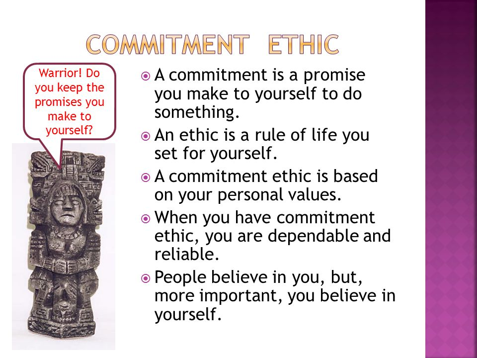  A commitment is a promise you make to yourself to do something.