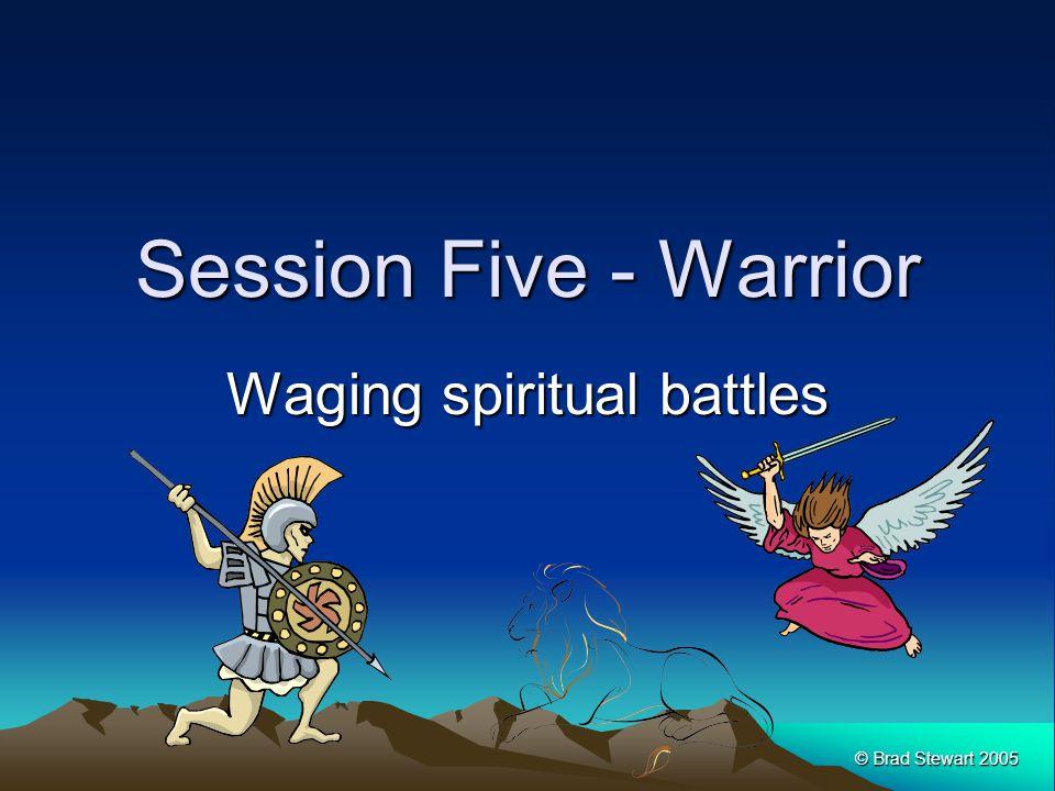 © Brad Stewart 2005 Session Five - Warrior Waging spiritual battles