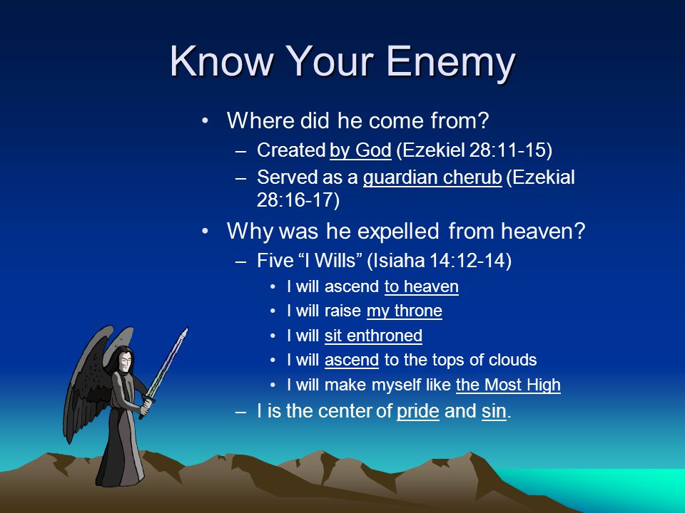 Know Your Enemy Where did he come from.