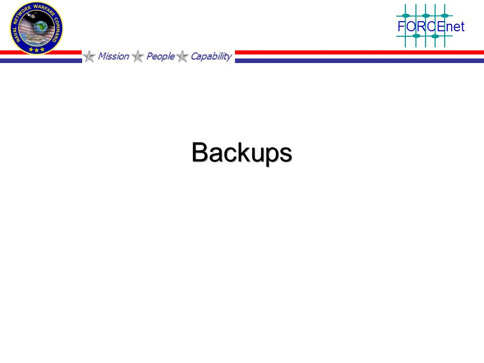 Mission People Capability FORCEnet Backups