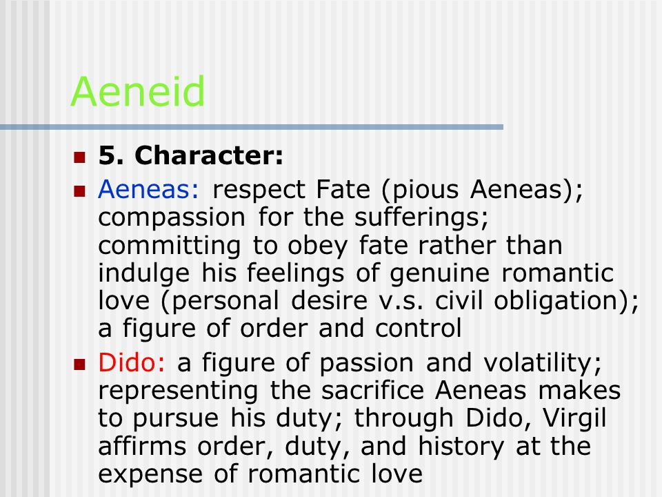 Aeneid 1. The author:Virgil and The AeneidVirgil and The Aeneid 2.
