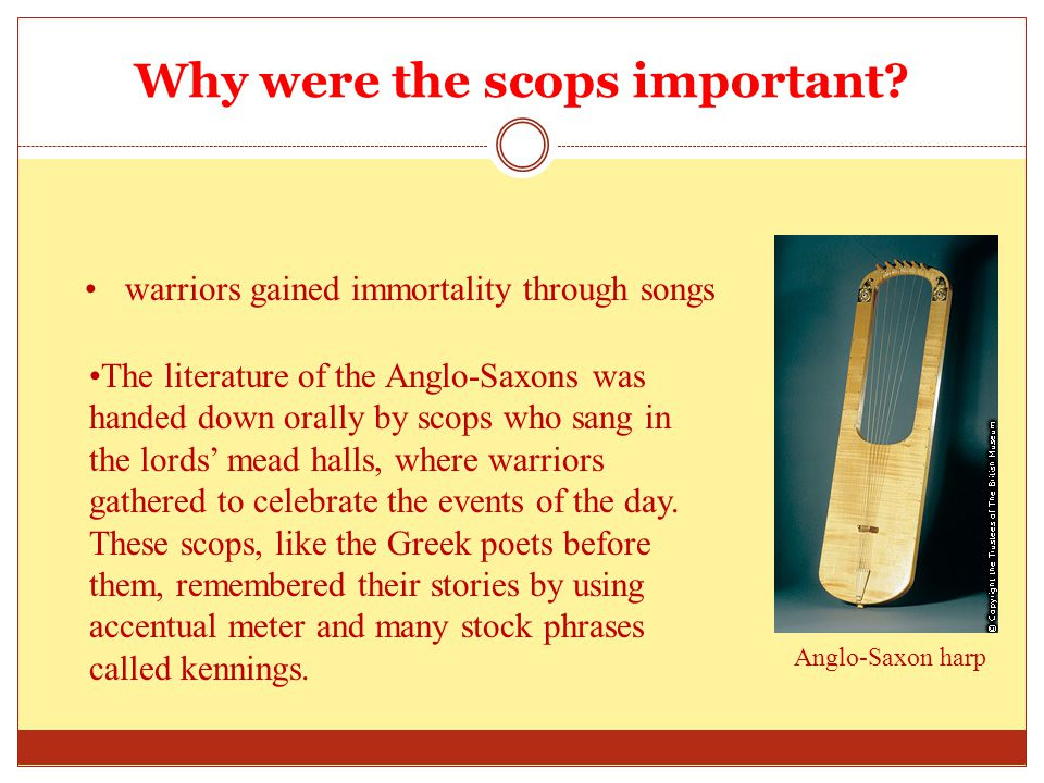Why were the scops important.