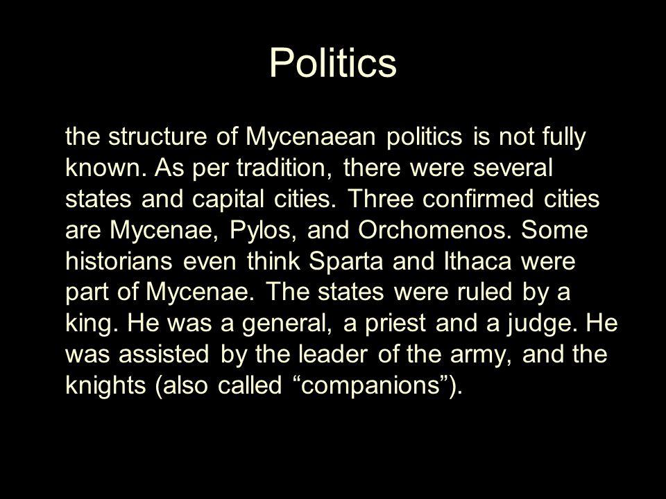 Arts Mycenae made lots of pottery.