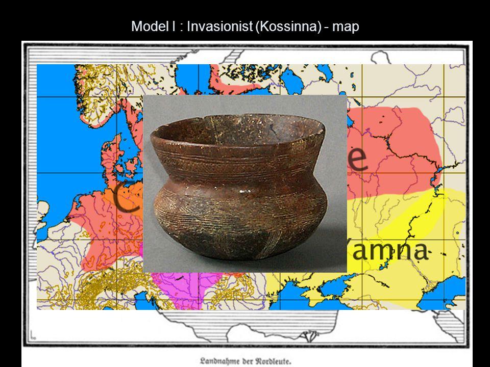 Model I : Invasionist (Kossinna) - map