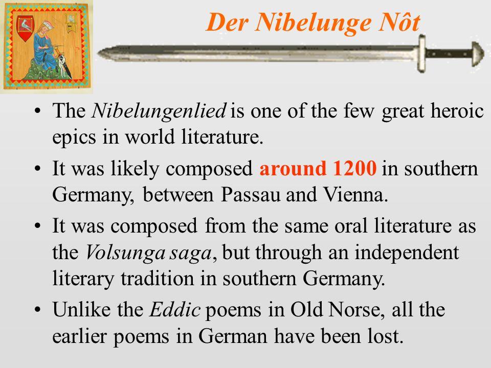 Der Nibelunge Nôt 16-17 Siegfried dies among the flowers (cite 131).