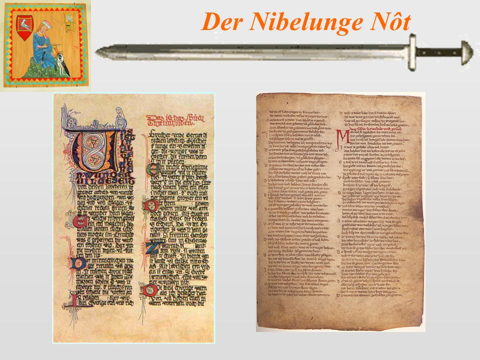Der Nibelunge Nôt 17 King Siegmund and the Nibelung warriors want to avenge his death, but Kriemhild cautions them not to attack foolishly.