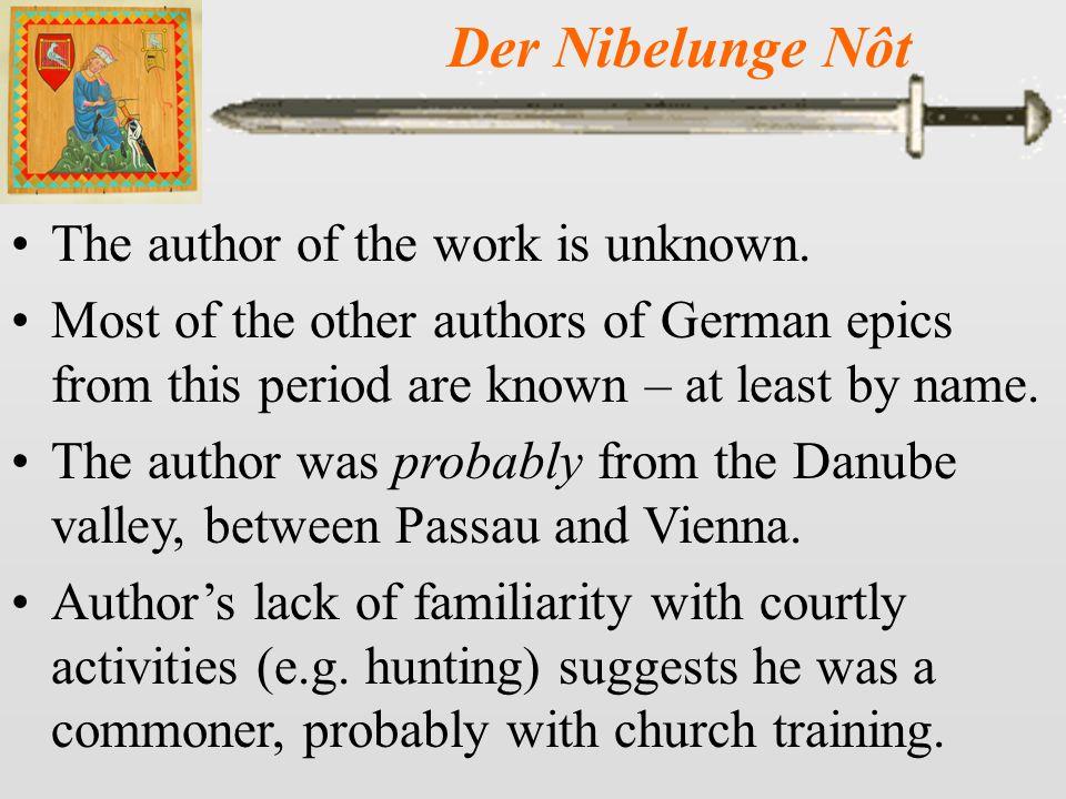 Der Nibelunge Nôt 2 Generosity of the king and feudal fiefdoms described as well.
