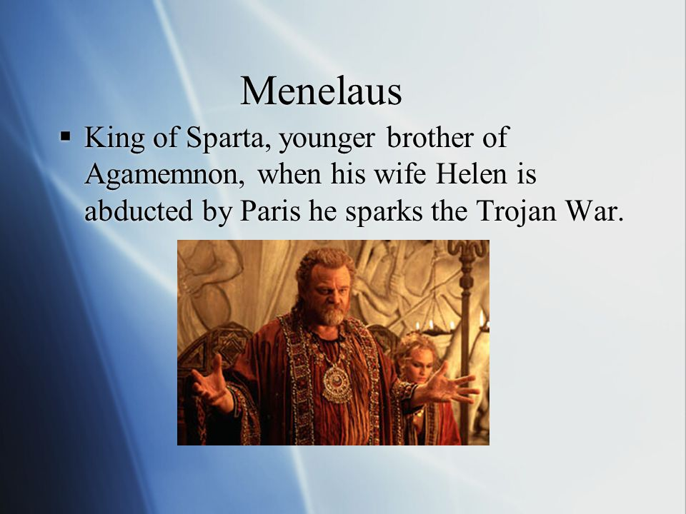 Nestor  King of Pylos and the oldest Achaean commander, very wise