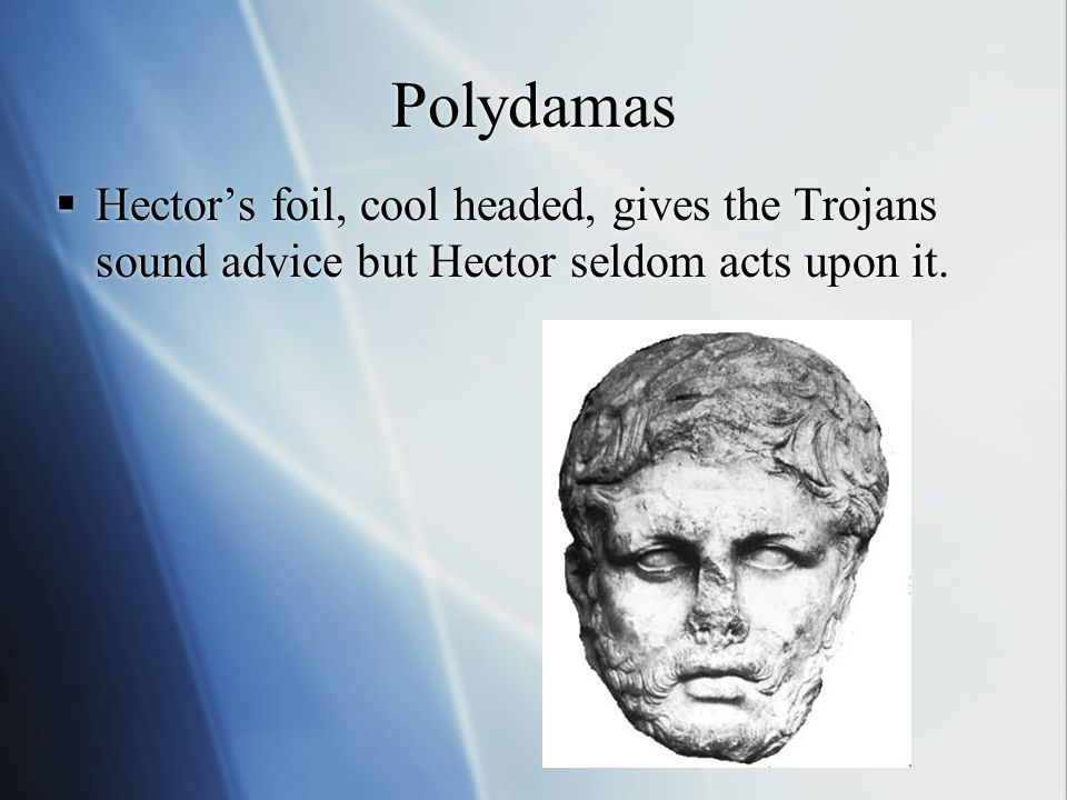 Andromache  Hector's loving wife Astyanax Hector's infant son