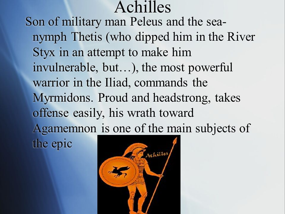  In the tenth and final year of the Trojan War, Chryses, a priest of Apollo, attempts to ransom his daughter from Agamemnon, who has taken her captive while on a raid.