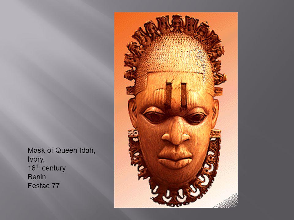 Mask of Queen Idah, Ivory, 16 th century Benin Festac 77