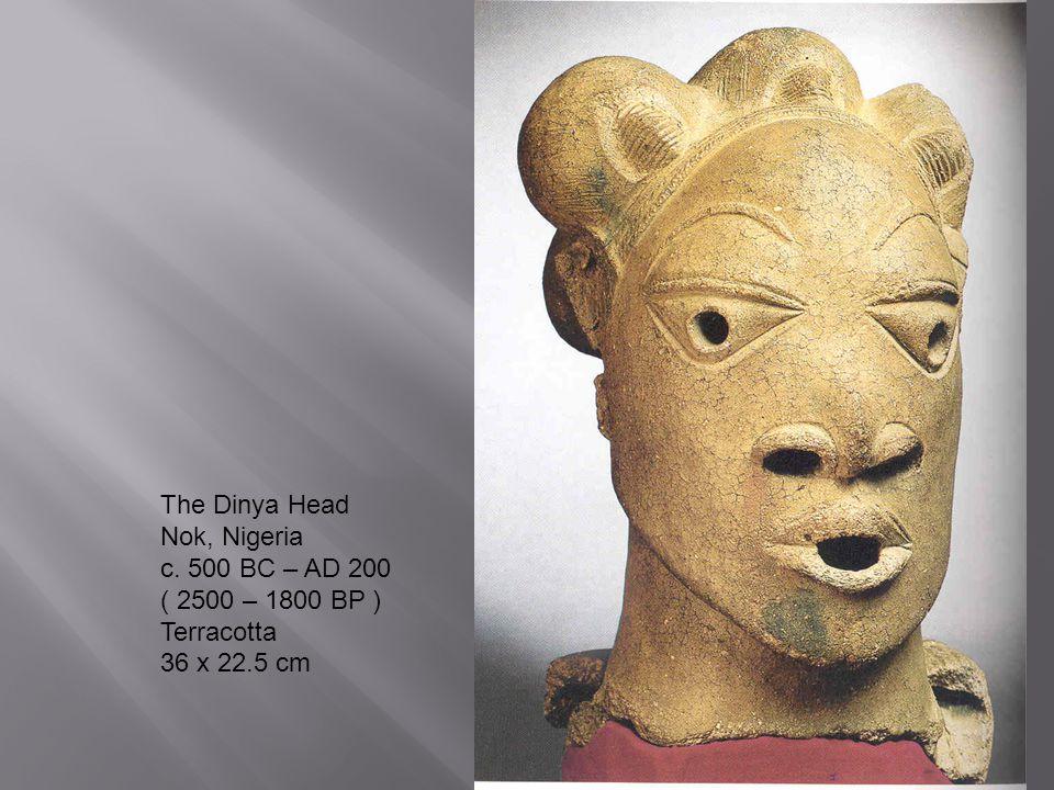 The Dinya Head Nok, Nigeria c. 500 BC – AD 200 ( 2500 – 1800 BP ) Terracotta 36 x 22.5 cm